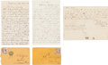 Political:Small Paper (pre-1896), [Abraham Lincoln]: Several Examples of Hate Mail. ... (Total: 3Items)