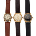 Timepieces:Wristwatch, Three Vintage Wristwatches With Wind Indicators. ... (Total: 3Items)