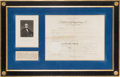 Autographs:U.S. Presidents, Andrew Johnson: Presidential Appointment. ...