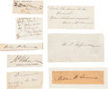 Autographs:Statesmen, Abraham Lincoln: Cabinet Members and Associates. ... (Total: 15Items)