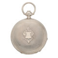 Timepieces:Pocket (pre 1900) , A.S. Murray London Ontario Silver Hunters Case. ...