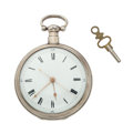 Timepieces:Pocket (pre 1900) , Bovet London Silver Duplex Escapement Watch For The Chinese Market, circa 1850. ...