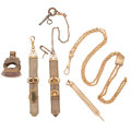 Timepieces:Watch Chains & Fobs, Chain & Fob Lot. ... (Total: 5 Items)