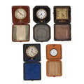 Timepieces:Other , Five Travel Watches/Clocks. ... (Total: 5 Items)