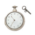 Timepieces:Pocket (pre 1900) , Woodward London Large Silver Verge Fusee, circa 1840. ...