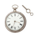Timepieces:Pocket (pre 1900) , Maston London Sterling Pair Case Verge Fusee, circa 1810. ...