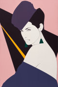 Pin-up and Glamour Art, PATRICK NAGEL (American, 1945-1984). Carol. Acrylic oncanvas. 36 x 24 in.. Not signed. ... (Total: 2 Items)