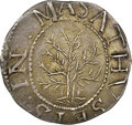 Colonials, 1652 SHILNG Oak Tree, IN at Left MS63 NGC. Noe-1, W-430, Salmon 1-A, R.3. ...