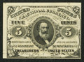 Fractional Currency:Third Issue, Fr. 1238 5¢ Third Issue New.. ...