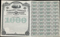 Miscellaneous:Other, Jacksonville, Tampa and Key-West Railway Company $1000 Bond May 15,1890 Specimen.. ...