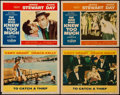 "Movie Posters:Hitchcock, To Catch a Thief & Other Lot (Paramount, 1955). Lobby Cards (4)(11"" X 14""). Hitchcock.. ... (Total: 4 Items)"