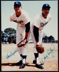 Baseball Collectibles:Photos, Don Drysdale and Sandy Koufax Multi Signed Photograph....