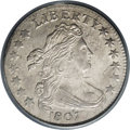 Early Dimes: , 1807 10C MS61 PCGS. JR-1, R.2. A comparatively high 165,000 pieceswere struck of this final year Draped Bust issue, incred...