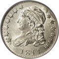 Bust Dimes: , 1814 10C Large Date MS64 PCGS. JR-3, R.2. This die variety isdistinguishable by the curl extending to the right edge of th...