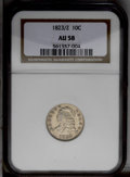 Bust Dimes: , 1823/2 10C Large Es AU58 NGC. JR-3, R.2. Both sides have virtuallyfull luster with only a trace of wear on the highest des...
