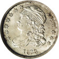 Bust Dimes: , 1833 10C MS66 NGC. JR-4, R.1. As with the few other Mint Staterepresentatives we have encountered of this marriage, struck...