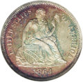 1864 10C PR66 NGC. Proof 1864 dimes have several factors working in their favor. Produced in a sought-after Civil War ye...