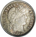 Barber Dimes: , 1895-S 10C MS64 PCGS. The 1895-S is at least as scarce in all grades as its comparatively small mintage would suggest, with...
