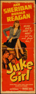 "Movie Posters:Bad Girl, Juke Girl (Warner Brothers, 1942). Insert (14"" X 36""). Bad Girl....."