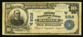 National Bank Notes:Oklahoma, Wagoner, OK - $10 1902 Plain Back Fr. 632 The First NB Ch. # (W)5016. ...