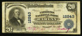 National Bank Notes:Kentucky, Harlan, KY - $20 1902 Plain Back Fr. 661 The Citizens NB Ch. # 12243. ...