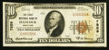 National Bank Notes:Maryland, Hancock, MD - $10 1929 Ty. 1 The First NB Ch. # 7859. ...