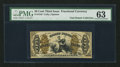 Fractional Currency:Third Issue, Fr. 1343 50¢ Third Issue Justice PMG Choice Uncirculated 63.. ...