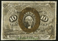 Fractional Currency:Second Issue, Fr. 1249 10¢ Second Issue Extremely Fine.. ...