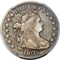 Early Dimes, 1802 10C JR-4, R.4 -- Cleaning -- PCGS Genuine. VF Details....