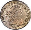 Early Half Dimes, 1797 H10C 13 Stars, V-1, LM-4, R.5, Fine 15 PCGS....