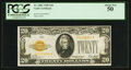 Small Size:Gold Certificates, Fr. 2402 $20 1928 Gold Certificate. PCGS About New 50.. ...