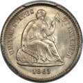 Seated Half Dimes, 1863 H10C MS67 PCGS. CAC. V-1, RPD-001....
