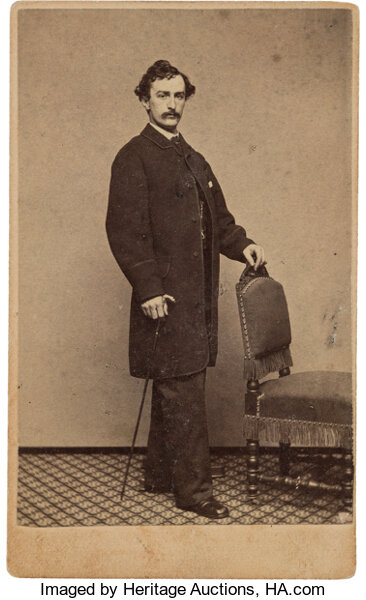 PhotographyCDVs John Wilkes Booth From Life Carte De Visite