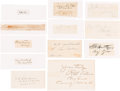 Autographs:Celebrities, Trial of the Conspirators: Military Tribunal Signatures.... (Total:12 Items)