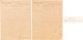 Miscellaneous:Ephemera, [John Wilkes Booth]: Luther B. Baker ALS and Bonus. ... (Total: 2Items)