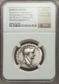 Ancients:Roman Imperial, Ancients: Claudius (AD 41-54), with Agrippina II. AR cistophorus(10.99 gm)....