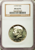 Kennedy Half Dollars, 1970-D 50C MS65 Prooflike NGC. PCGS Population (2739/438). Mintage:2,150,000. Numismedia Wsl. Price for...