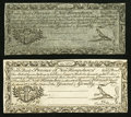 Colonial Notes:New Hampshire, New Hampshire April 3, 1755 Redated June 1, 1756 7s 6d Cohen Reprint Choice About New.. ... (Total: 2 notes)