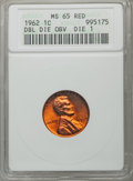 Lincoln Cents, 1962 1C Double Die Obverse MS65 Red ANACS. Die 1. NGC Census: (161/572). PCGS Population (568/604). Mintage: 609,263,040. ...