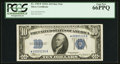 Small Size:Silver Certificates, Fr. 1702* $10 1934A Silver Certificate. PCGS Gem New 66PPQ.. ...