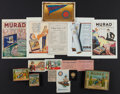 Non-Sport Cards:Lots, 1910's Murad Cigarettes Card, Packaging, Plus Collection (15). ...