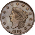 Large Cents, 1826 1C N-6, R.2, MS66 Brown PCGS. CAC....