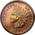 Proof Indian Cents, 1884 1C PR67 Red PCGS. CAC....