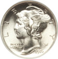 1916 10C MS67 ★ Full Bands NGC. NGC Census: (83/12). PCGS Population (114/10). Mintage: 22,180,080. Numismedia Wsl. Pric...