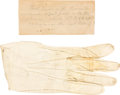 Political:Presidential Relics, [Abraham Lincoln and Ulysses S. Grant]: Personal Keepsake. ...
