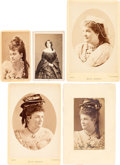Photography:CDVs, [John Wilkes Booth]: Girlfriends and Other Luminaries of the Stage. ... (Total: 6 Items)