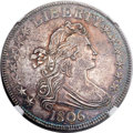 Early Half Dollars, 1806 50C Pointed 6, Stem, O-114, R.5, MS63 NGC....