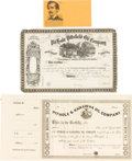 Miscellaneous:Ephemera, John Wilkes Booth: Assorted Ephemera. ... (Total: 3 Items)