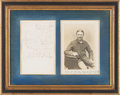 Autographs:Celebrities, Boston Corbett: ALS and Photo Display. ...