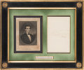 Autographs:U.S. Presidents, Abraham Lincoln: Note Signed as Republican Presidential Nominee in1860. ...